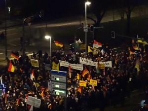 Manifestação do PEGIDA em Dresden, na Alemanha