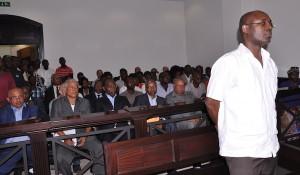O réu, Rafael Marques de Morais, durante a sessão do julgamento aberta ao público