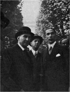 Salazar acompanhado por Armindo Monteiro e Henrique Galvão
