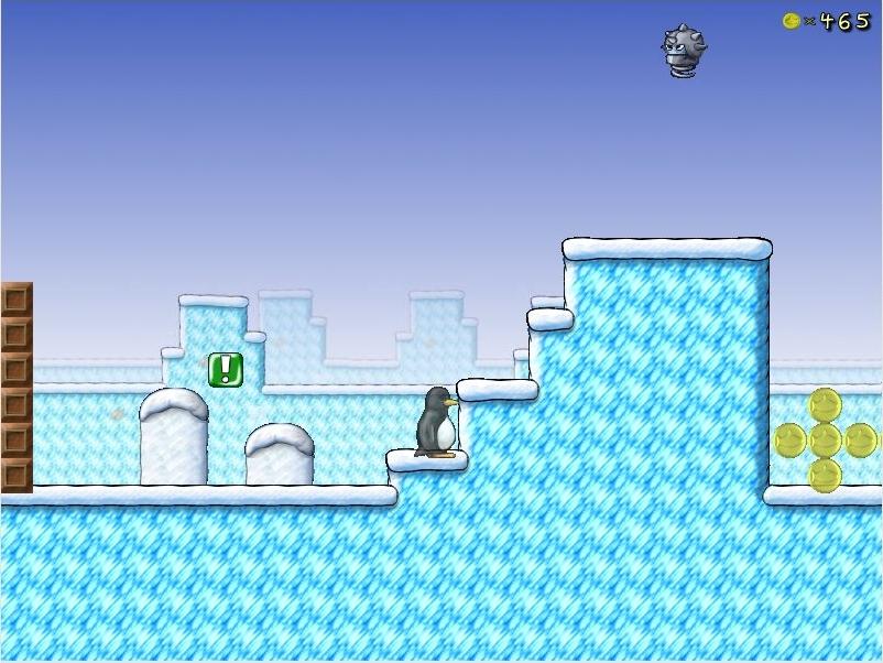 """Imagem do jogo """"SuperTux"""", a aplicação mais popular do """"Magalhães"""""""